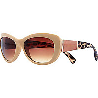 Beige contrast arm sunglasses
