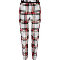 Grey tartan smart trousers