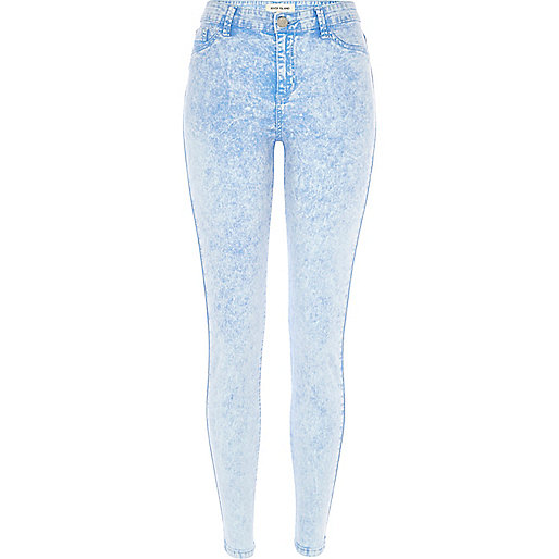 Light acid wash Molly jeggings