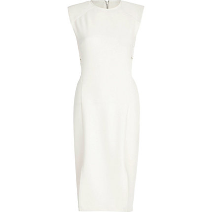 river island white dress