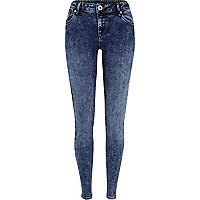 Mid acid wash Amelie superskinny jeans