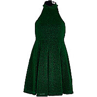 Green Chelsea Girl disco skater dress