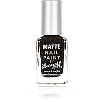 Barry M black matte nail polish