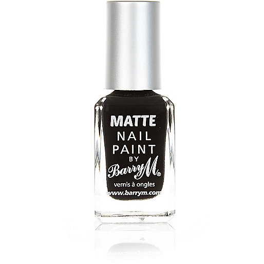 Espresso black Barry M matte nail polish