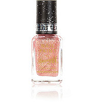 Barry M pink glitter textured nail varnish