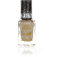 Barry M gold glitter textured nail varnish