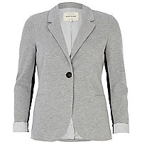 Grey tailored jersey blazer