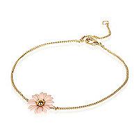 Gold tone daisy bracelet