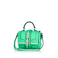 Bright green mini satchel
