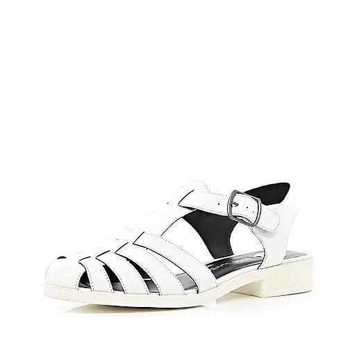 White chunky strappy sandal