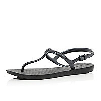 Black Havaianas T bar sandals
