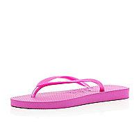 Bright pink slim Havaianas
