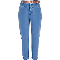 Blue slim Mom jeans