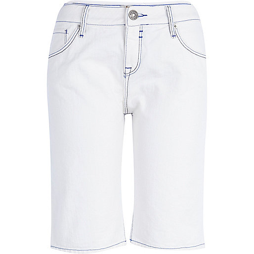 White long city shorts