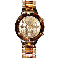 Tortoise shell bracelet watch