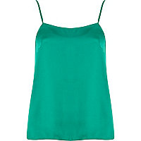 Green cami top