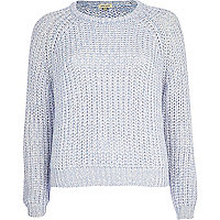 Lilac twist knit crop jumper