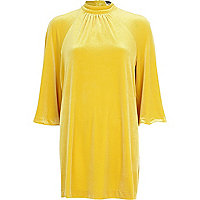 Yellow Chelsea Girl split sleeve dress