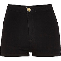 Black high waisted tube shorts