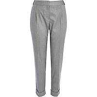 Grey smart flannel trousers
