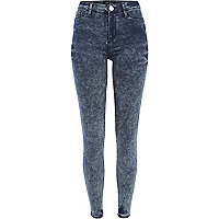Dark acid wash Molly jeggings