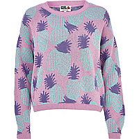 Lilac Chelsea Girl pineapple crop jumper