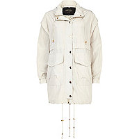 Cream smart anorak jacket