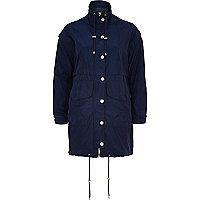 Navy smart anorak jacket