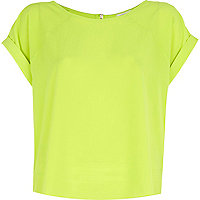 Lime raglan sleeve t-shirt