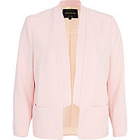 Light pink inverted collar blazer