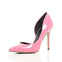 Pink cut out side court shoes