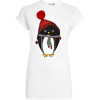 White Penguin pom pom t-shirt