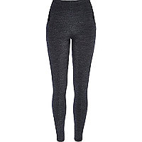 Grey tweed high waisted leggings