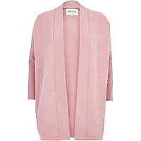 Pink diamond quilted jersey jacket