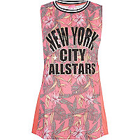 Red floral print New York City Allstars tunic