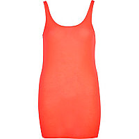 Bright pink scoop neck longline vest
