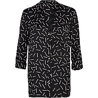 Black match stick print shirt