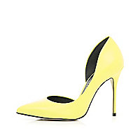 Yellow cut out side court shoes