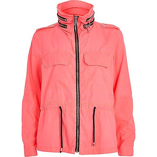 Pink anorak jacket