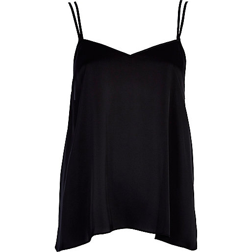 Black V neck cami top