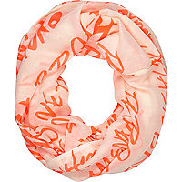 Pink expensive taste print snood