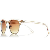 Light orange transparent retro sunglasses