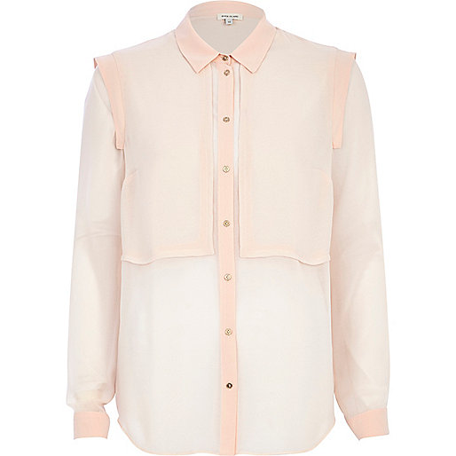 Light pink layered shirt