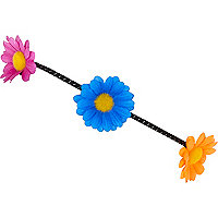 Multicoloured flower hair band