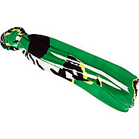 Green graphic print stretch head band