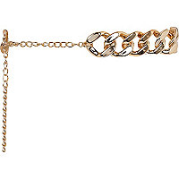 Gold tone chunky curb chain belt