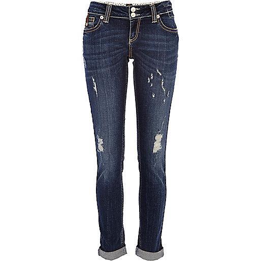 Dark wash ripped Matilda skinny jeans