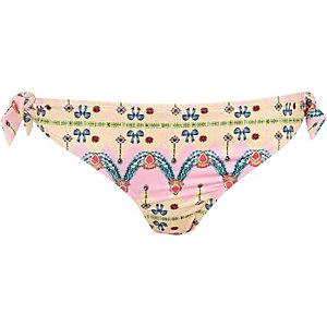 Pink Pacha jewel print bikini bottoms