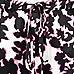 Pink botanical print slouch trousers