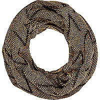 Black lurex chevron snood